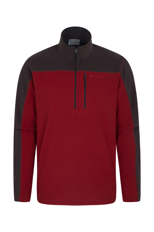 Argyle Mens Half Zip Fleece - Burgundy
