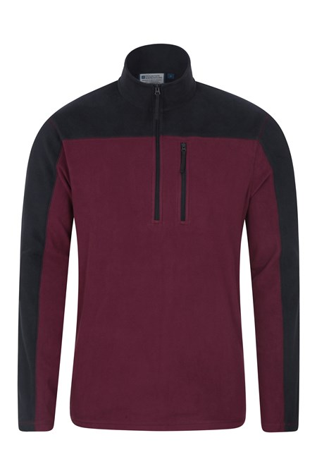 024938 ARGYLE HALF ZIP FLEECE