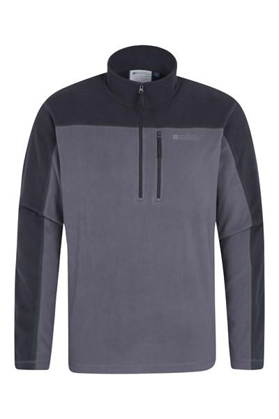 Argyle Mens Half Zip Fleece - Grey