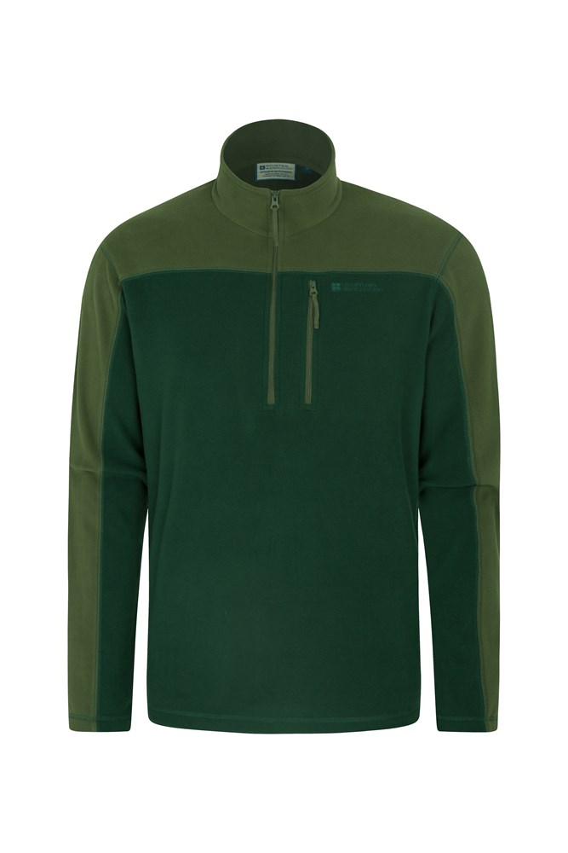 Argyle Mens Half Zip Fleece - Green