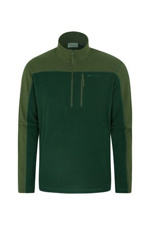 Argyle Mens Half Zip Fleece