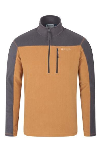 Argyle Mens Half Zip Fleece - Yellow