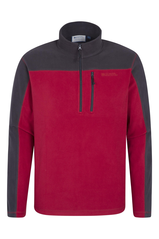 024938 red argyle mens half zip fleece ss17 1