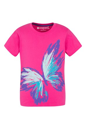 Sketchy Butterfly Kids Tee
