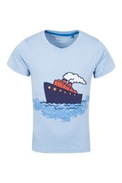 Tug Boat Applique Kids Tee