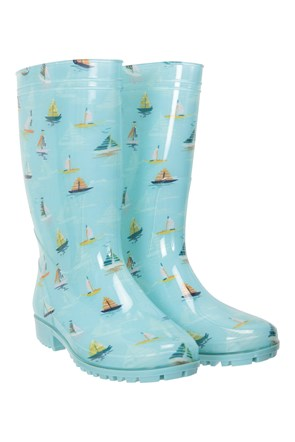 Splash Printed Womens Wide Calf Wellies