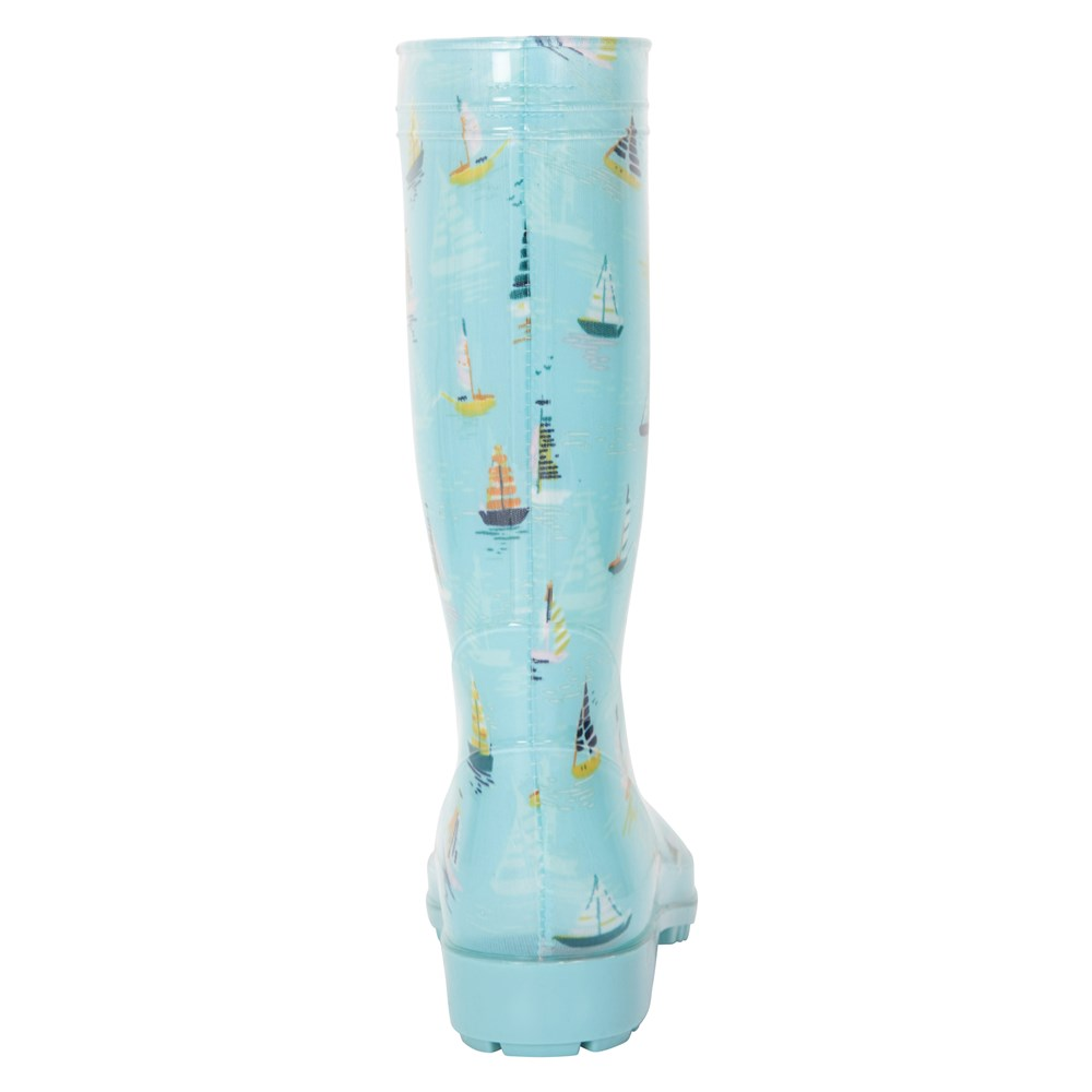 UK Mountain Warehouse Wms  Splash Wide Calf Printed Womens Wellie In Turquoise
