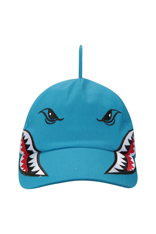fde83609448 Shark Kids Baseball Hat - Blue