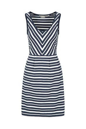 A-line Sleeveless Stripe Womens Dress