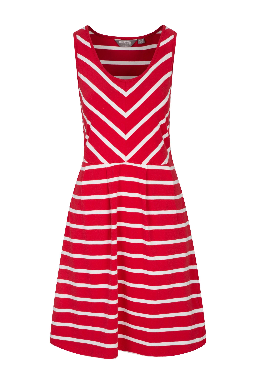 024968 red a line sleeveless stripe womens dress  wms ss18 1