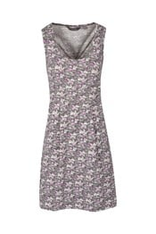A-line Sleeveless Pattern Womens Dress