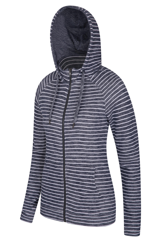 Mountain Warehouse Woolamai Womens Full Zip Hoodie with Adjustable Hood