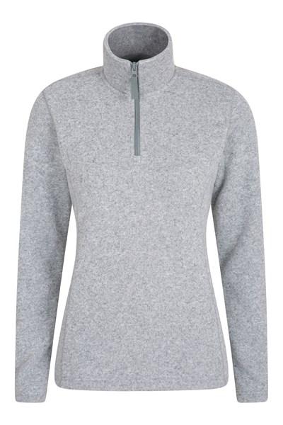 Idris Womens Half Zip Fleece - Grey