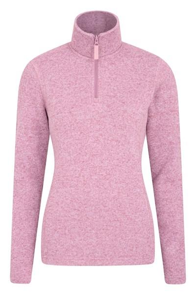 Idris Womens Half Zip Fleece - Light Pink