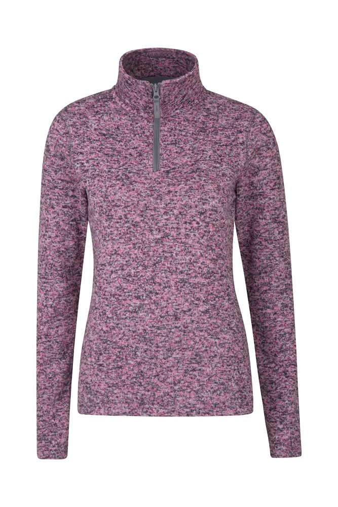 Idris Womens Half Zip Fleece - Pink