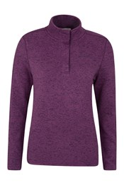 Idris Button Neck Womens Fleece