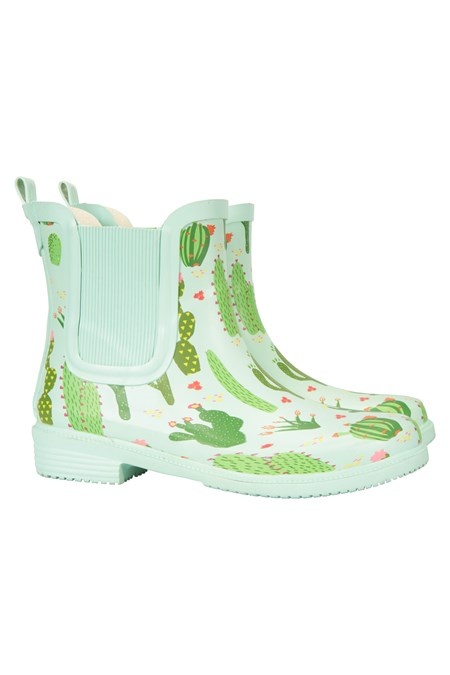024999 FLORAL ANKLE RUBBER WELLIE