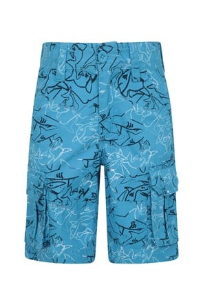 Printed Kids Cargo Shorts