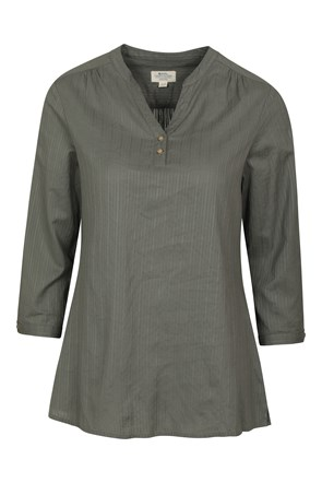 Petra Womens Relaxed Fit 3/4 Sleeve Shirt