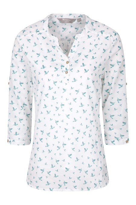 025007 PETRA PRINTED WOMENS RELAXED FIT 3/4 SLEEVE SHIRT