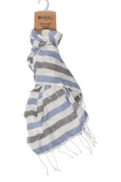Pebble Striped Womens Scarf