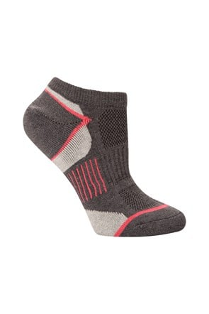 Isocool Womens Padded Trainer Socks 2pk
