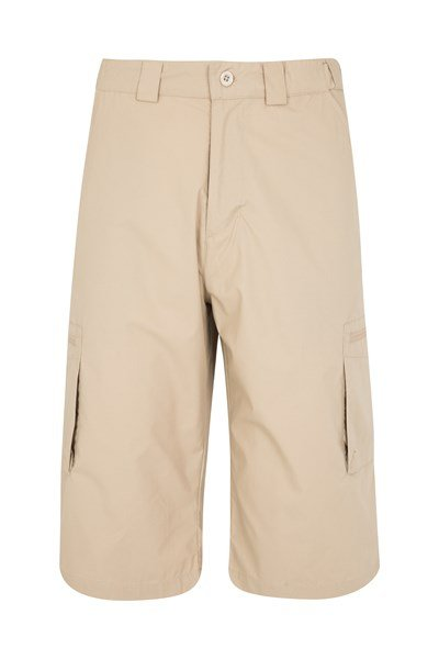 Trek II Mens Long Shorts - Beige