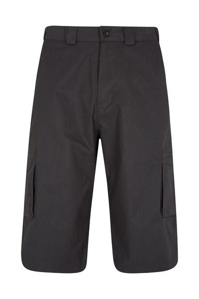 Trek II Mens Long Shorts - Black