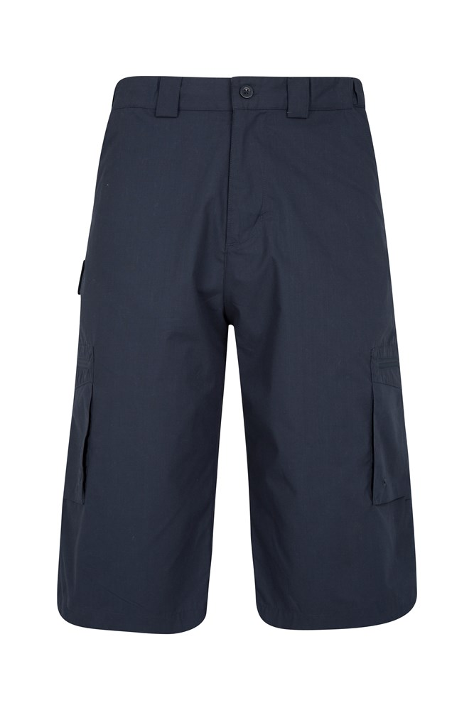 Trek II Mens Long Shorts - Navy