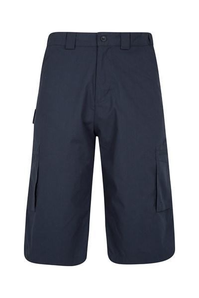 Trek II Mens Long Shorts - Navy