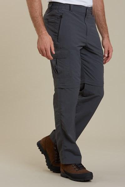Explore Convertible Mens Trousers - Grey