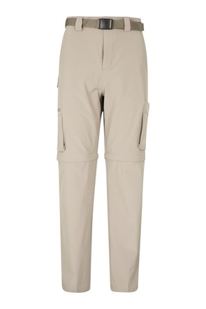 Travelling Mens Zip-Off Stretch Pants