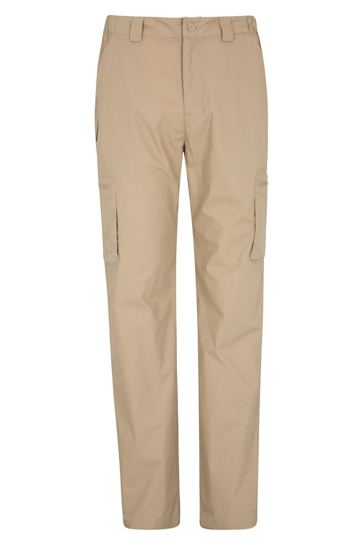 Trek Mens Trousers - Short Length - Beige