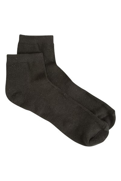 Mens Active Trainer Socks - 2 Pk - Black