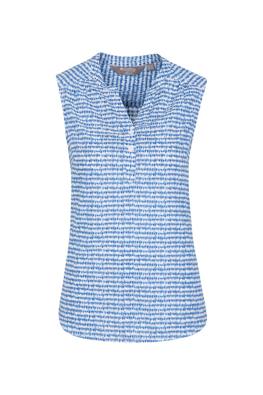 Petra Womens Printed Sleeveless Shirt - Blue