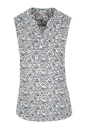 Petra Womens Printed Sleeveless Shirt