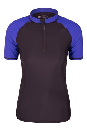Womens Zip Rash Vest