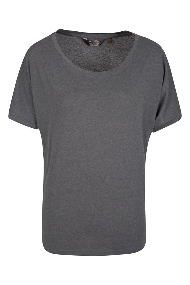 IsoCool Batwing Womens Top - Grey
