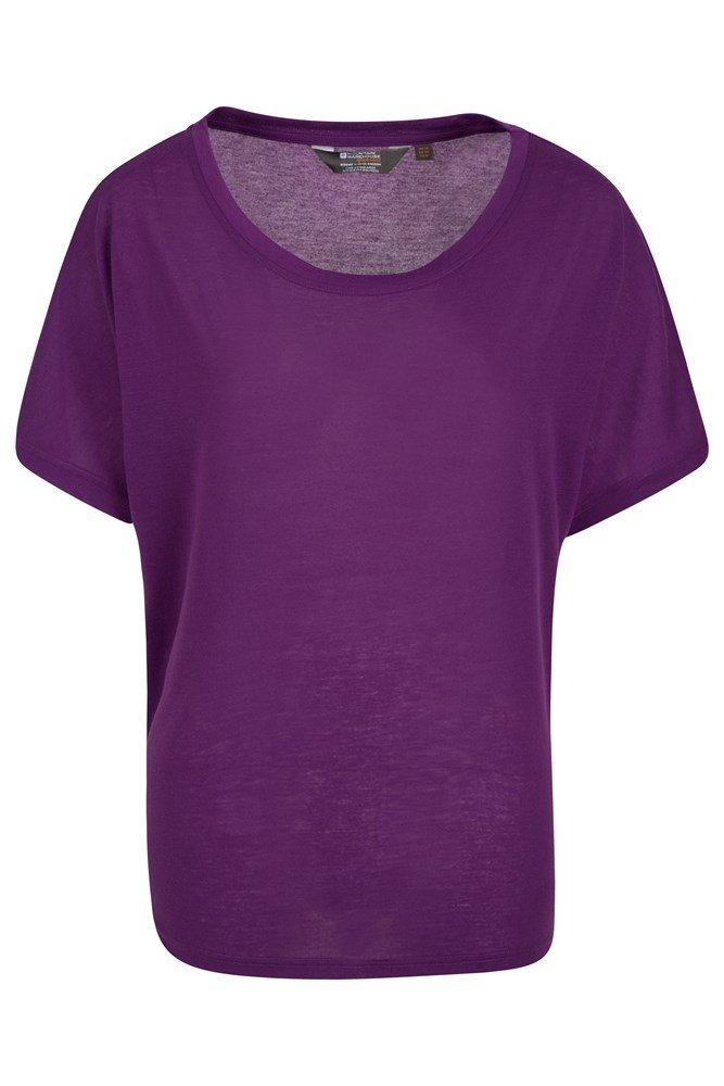 IsoCool Batwing Womens Top - Purple