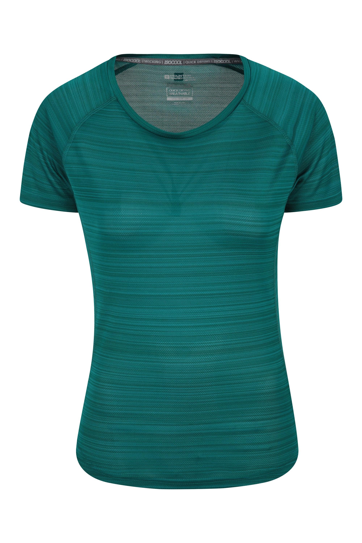 Endurance Striped - koszulka damska - Green