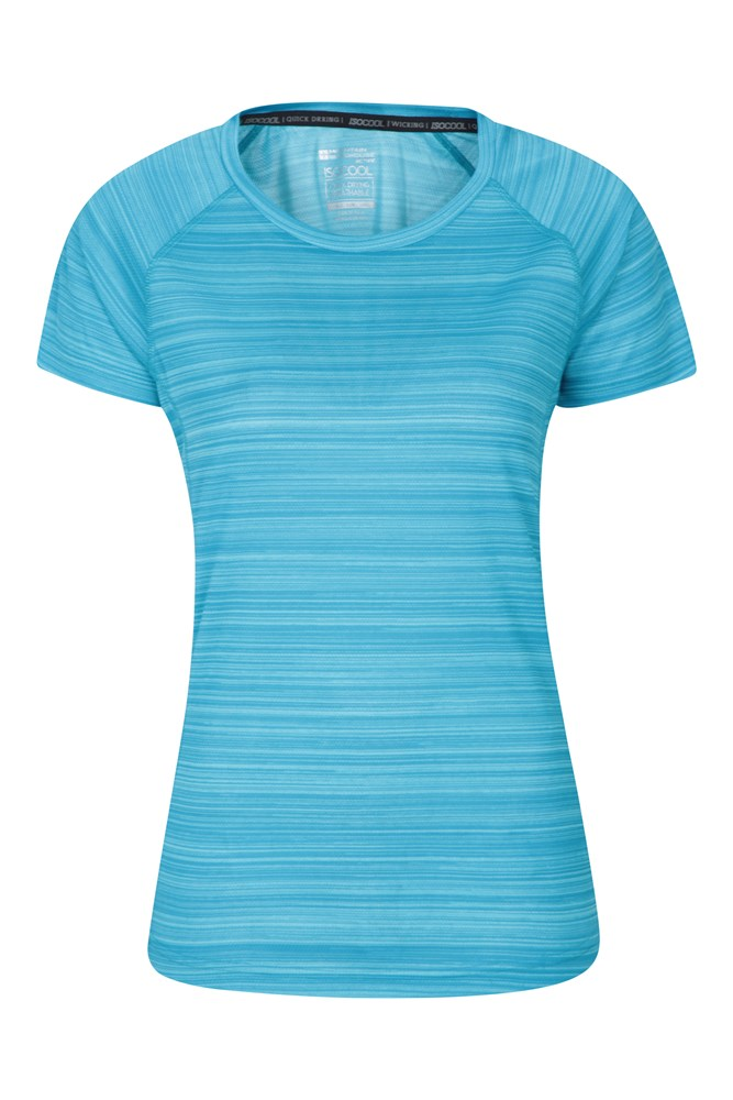 Endurance Damen T-Shirt - Gestreift - Blau