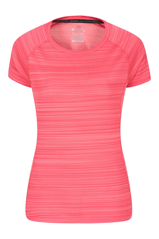 Endurance Striped - koszulka damska - Pink