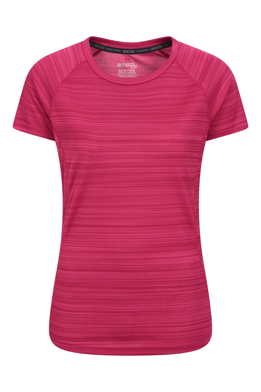 Endurance Striped - koszulka damska - Red