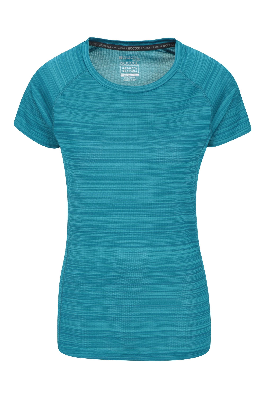Endurance Striped - koszulka damska - Teal