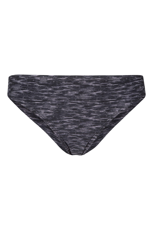 Space Dye Damen Bikinihose - Grau