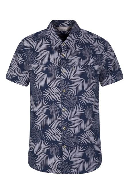 87d72484 Tropical Printed Mens Short Sleeved Shirt | Mountain Warehouse CA