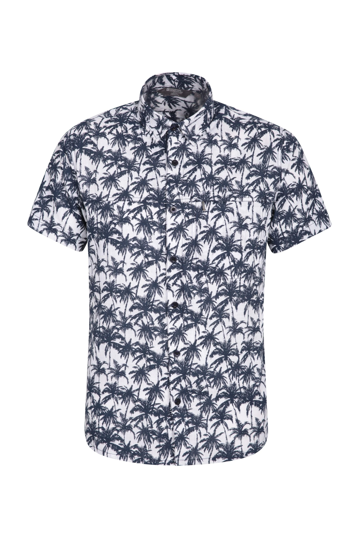 Chemise à manches courtes hommes Tropical - Bleu