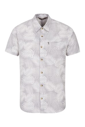 Tropical Printed Mens Short Sleeved Shirt