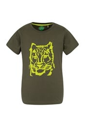 Steve Backshall Snow Leopard Kids Tee