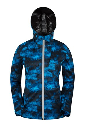 Printed IsoCool Womens 2.5 Layer Running Jacket